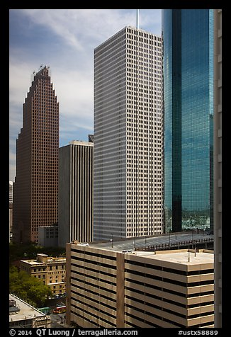 Skyline District. Houston, Texas, USA (color)