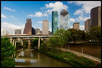 Buffalo Bayou and skyline. Houston, Texas, USA ( color)