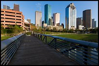 Footbridge and skyline. Houston, Texas, USA ( color)