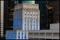 Art deco and modern buildings. Houston, Texas, USA ( color)
