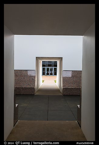 Doors, James Turrel Skyspace, Rice University. Houston, Texas, USA (color)