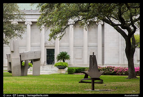 Sculpture garden, Museum of Fine Arts. Houston, Texas, USA (color)