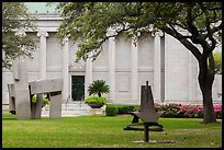 Sculpture garden, Museum of Fine Arts. Houston, Texas, USA ( color)