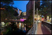 Evening on the Riverwalk. San Antonio, Texas, USA ( color)