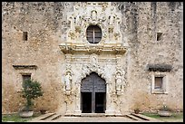 Facade of Mission San Jose church. San Antonio, Texas, USA ( color)