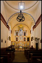 Interior of church, Mission San Jose. San Antonio, Texas, USA ( color)