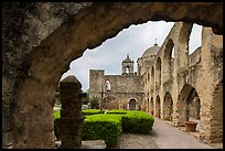 Convento and Church Dome, , Mission San Jose. San Antonio, Texas, USA ( color)