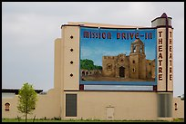 Mission drive-in theatre. San Antonio, Texas, USA ( color)
