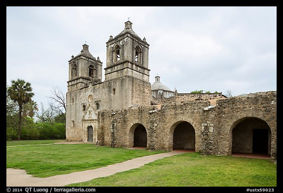 Mission Concepcion. San Antonio, Texas, USA (color)