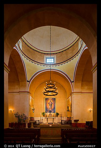 Mission Concepcion Church interior. San Antonio, Texas, USA (color)