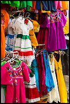Mexican dresses for sale, Market Square. San Antonio, Texas, USA ( color)