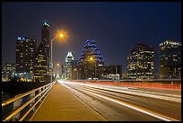 Skyline from Congress Avenue Bridge. Austin, Texas, USA ( color)