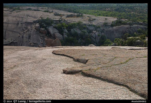 Granite slabs from top of Enchanted Rock. Texas, USA (color)