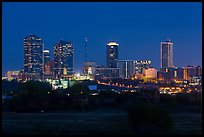 Skyline at night. Fort Worth, Texas, USA ( color)