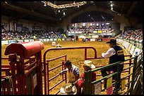 Cowtown coliseum during Stokyards Championship Rodeo. Fort Worth, Texas, USA ( color)
