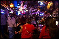 Inside White Elephant bar. Fort Worth, Texas, USA ( color)
