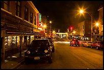 Street at night, Stockyards. Fort Worth, Texas, USA ( color)