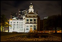 Courthouse at night. Fort Worth, Texas, USA ( color)
