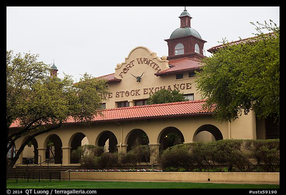 Forth Worth live stock exchange. Fort Worth, Texas, USA (color)