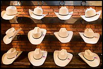 Light cowboy hats for sale. Fort Worth, Texas, USA ( color)