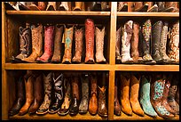 Leather cowboy boots for sale. Fort Worth, Texas, USA ( color)