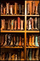 Cowboy boots for sale. Fort Worth, Texas, USA ( color)