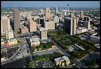 Aerial view of downtown. San Antonio, Texas, USA ( color)