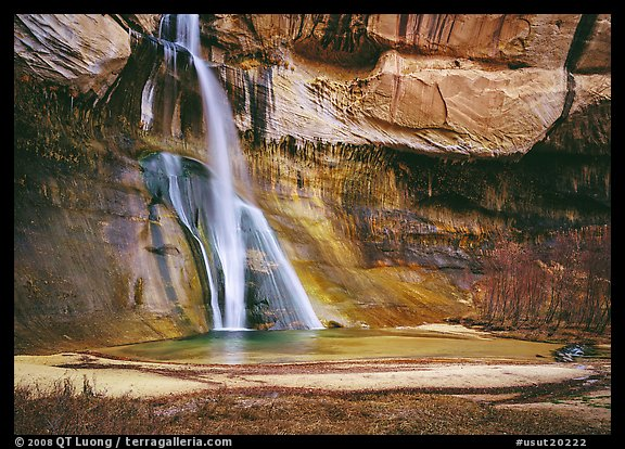 Lower Calf Creek Falls. Grand Staircase Escalante National Monument, Utah, USA (color)