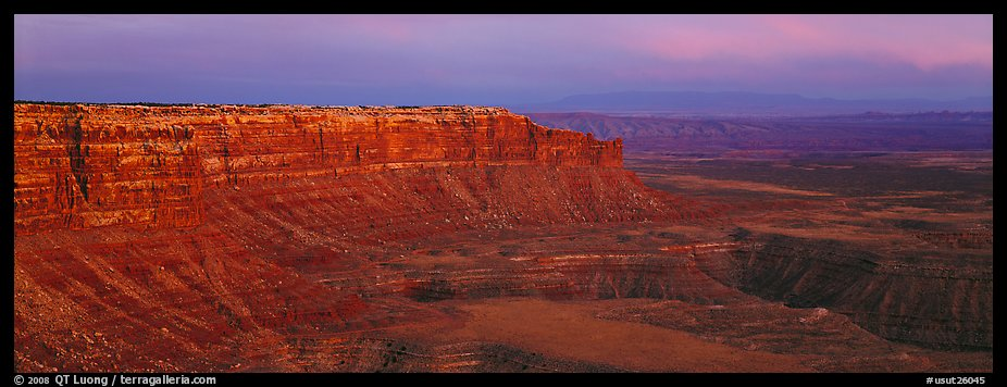 Canyon and cliffs at sunset. Bears Ears National Monument, Utah, USA (color)