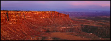 Canyon and cliffs at sunset. Utah, USA (Panoramic color)