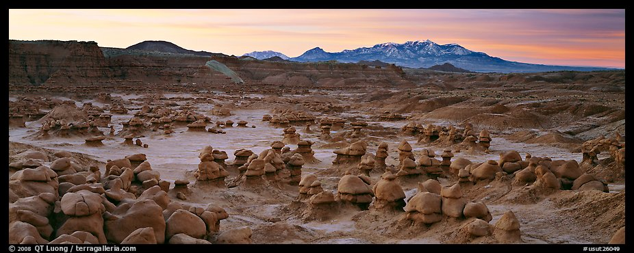 Goblin Valley landscape. Utah, USA (color)