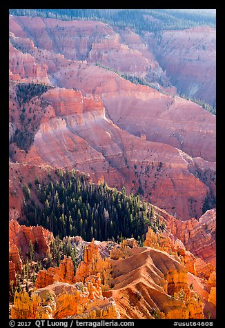 Chessmen Ridge and Canyon. Cedar Breaks National Monument, Utah, USA (color)