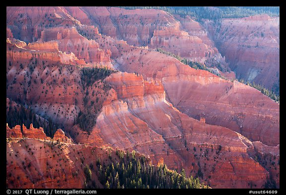 View from Chessmen Ridge Overlook. Cedar Breaks National Monument, Utah, USA (color)