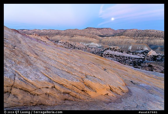 Moon and Cockscomb Anticline. Grand Staircase Escalante National Monument, Utah, USA (color)