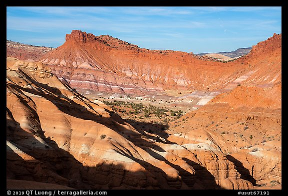 Colorful badlands, Old Paria. Grand Staircase Escalante National Monument, Utah, USA (color)