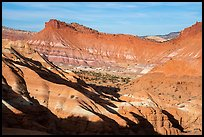 Colorful badlands, Old Paria. Grand Staircase Escalante National Monument, Utah, USA ( color)