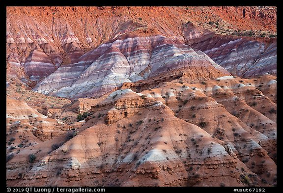Chinle formation badlands, Old Paria. Grand Staircase Escalante National Monument, Utah, USA (color)
