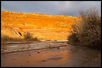 Cliffs and sunset and Paria River. Grand Staircase Escalante National Monument, Utah, USA ( color)
