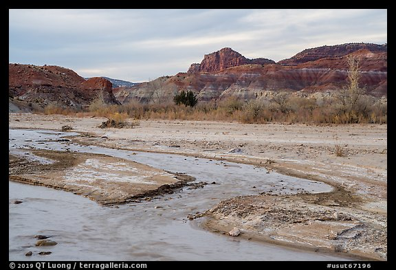 Paria River. Grand Staircase Escalante National Monument, Utah, USA (color)