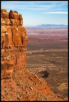 Cliff edge of Cedar Mesa and Valley of the Gods from Moki Dugway. Bears Ears National Monument, Utah, USA ( color)
