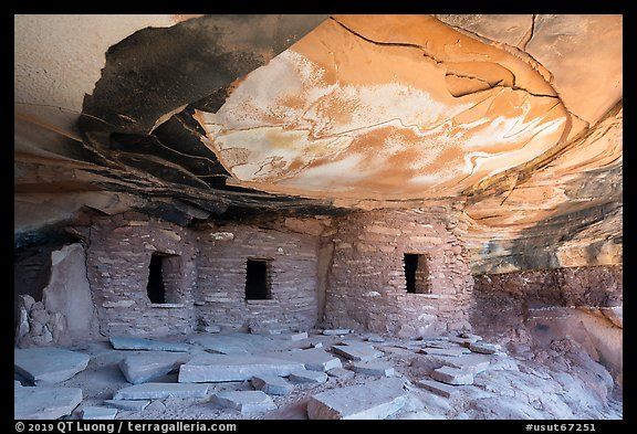 Fallen Roof Puebloan Ruin. Bears Ears National Monument, Utah, USA (color)