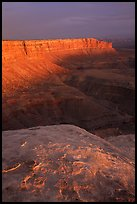 Cliffs near Muley Point, sunset. Utah, USA ( color)