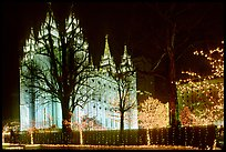 Great temple of the Church of Jesus Christ of Latter-day Saints, Salt Lake City. Utah, USA (color)