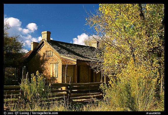 Old house, Grafton. Utah, USA (color)