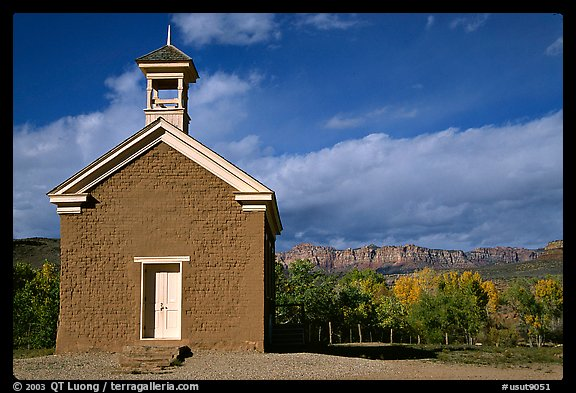 Church of Grafton. Utah, USA (color)