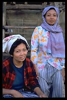 Muslem women from Cham minority village, near Chau Doc
