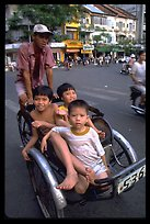 Shared ride. Cyclo, Ho Chi Minh city