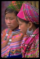 Young Flower Hmong women, Bac Ha