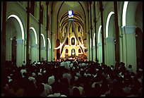 Christmas mass, Cathedral St Joseph. Ho Chi Minh City, Vietnam ( color)