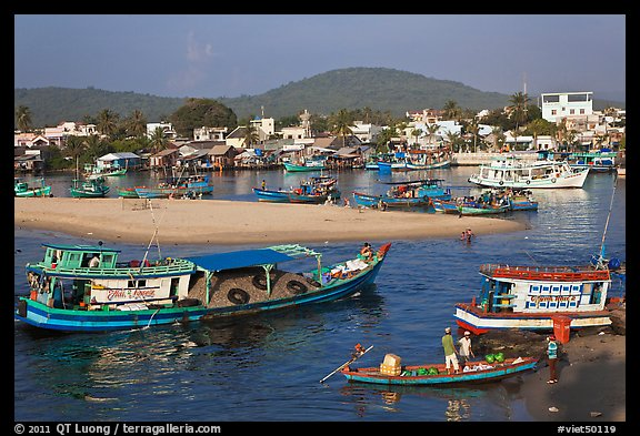 Entrance of Duong Dong Harbor. Phu Quoc Island, Vietnam (color)